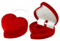 44806 Flocked box, heart with rose, a series of Romance
