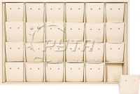 411109 Display tray for 24 pairs of stud earrings/ Angled removable inserts / Holes
