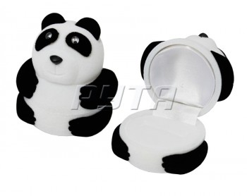 32801 Flocked box, panda, Children's collection