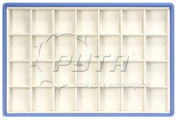 416228 Display tray with rounded corners,  no inserts,  28 cells (cell size 40х46)