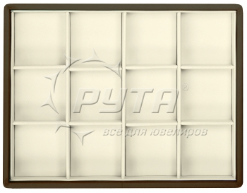 417224 Display tray with rounded corners, no inserts, 12 cells (cell size 47х47)