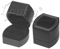 71001 Plastic box,  artificial leather cover,  Charlie collection