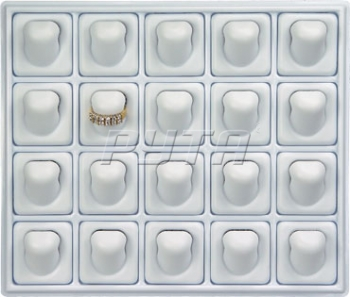415010 Plastic tray for 20 rings,  with removable inserts