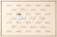 411004 Display tray for rings,  32 cells
