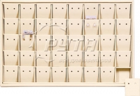 411113 Display tray for 40 pairs of stud earrings / Removable inserts / Holes