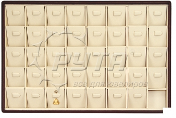 411021 Display tray for studs / 40 angled removable inserts / Horizontal clip
