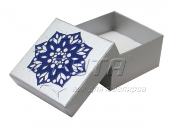 90030/Ф Hard cardboard with flocked pattern on the lid,  a series of Pearl classic,  60х60