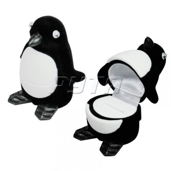 34401 Flocked box, a penguin, Children's collection