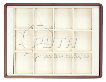 417228 Display tray with rounded corners, no inserts, 12 cells (cell size 40х46)