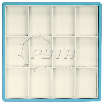 418218/Д Display tray with rounded corners, no inserts, inserts holders, 12 cells (cell size 47х65)