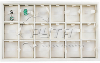 416502 Display tray with rounded corners for 18 charms. Insert size 49х63х15  mm