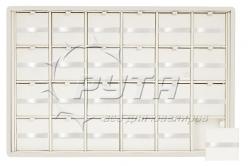 416504 Display tray with rounded corners for 24 charms. Insert size 47х47х3 mm.