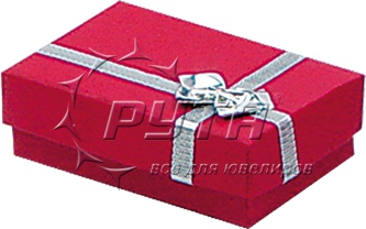38116 Hard cardboard with decorative taping, rectangular with bow foil