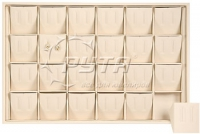 411117 Display tray for 24 pairs of earrings / Angled removable inserts