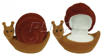 35301 Flocked box, a snail, Children's collection