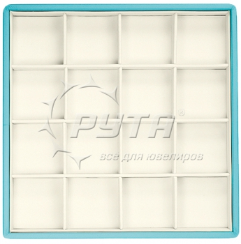 418224/Д Display tray with rounded corners, no inserts, inserts holders, 16 cells (cell size 47х47)