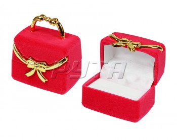 43901 Flocked case, handbag with anger.a bow, a series of Romance