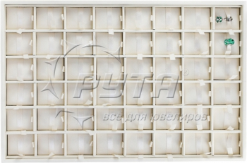 416501 Display tray with rounded corners for 48 charms. Insert size 30х36х10 mm