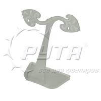 451155 Earrings stand,  with 2 holes. Material Color: matt white
