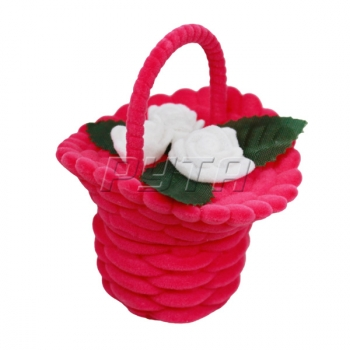 44001 Flocked case, flower basket, Romance series