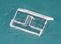 451035 Angled stand for a ring,  with a clip