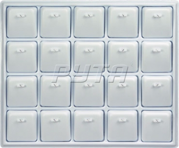 415012 Plastic tray for 20 pendants,  with removable inserts