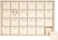 411201 Display tray for 24 pairs of earrings and pendants / Removable inserts / Hook