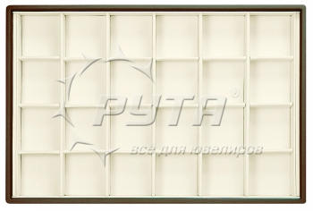 416224 Display tray with rounded corners, no inserts, 24 cells (cell size 47х47)