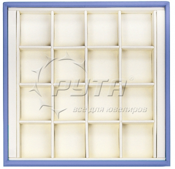 414228 Display tray, no inserts, 16 cells (cell size 40х46)