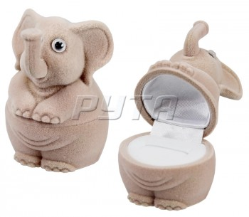 35201 Flocked box, an elephant, Children's collection