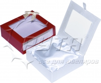 81240 Cardboard case with decorative pasting,  rectangular with a bow