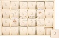 411009 Display tray for 24 rings / Angled removable inserts / Vertical clip