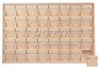 411123 Display tray for 40 pairs of earrings / Angled removable inserts / 2 horizontal clips